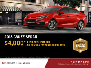 Get the 2018 Chevrolet Cruze Sedan