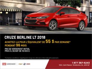 Obtenez la Chevrolet Cruze Berline 2018