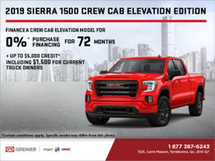 The 2019 GMC Sierra 1500