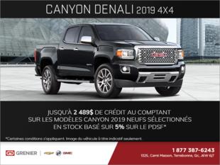 Le GMC Canyon 2019