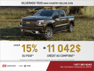 Obtenez le Chevrolet Silverado 2019