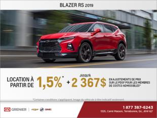 Obtenez le Chevrolet Blazer 2019
