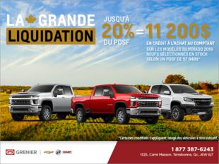 La grande liquidation Chevrolet!