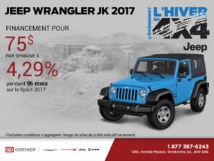 Économisez sur le Jeep Wrangler 2017!