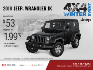 Get the 2018 Jeep Wrangler JK!