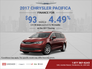 Get the 2017 Chrysler Pacifica Today!