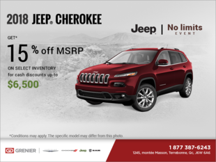 Get the 2018 Jeep Cherokee