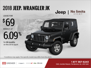 Get the 2018 Jeep Wrangler