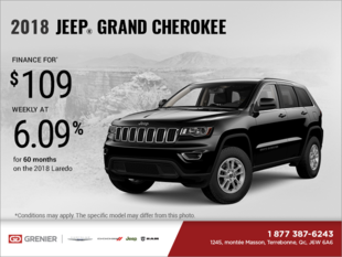 Get the 2018 Jeep Grand Cherokee