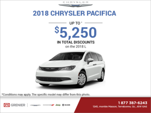 Get the 2018 Chrysler Pacifica Today!