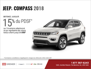 Conduisez un Jeep Compass 2018!