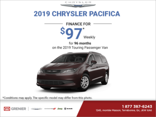 Get the 2019 Chrysler Pacifica Today!