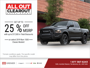 The RAM All Out Clearout Sales Event!