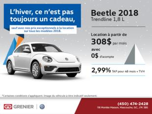 Obtenez la Beetle 2018 dès aujourd'hui!
