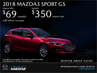 Guelph City Mazda - Get the 2018 Mazda3 Sport Today!