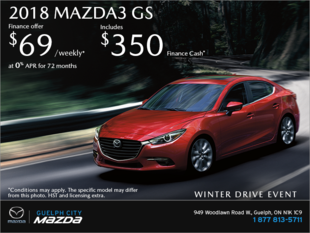 Guelph City Mazda - Get the 2018 Mazda3 Today!