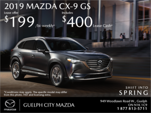 Guelph City Mazda - Get the 2019 Mazda CX-9 Today!