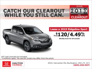 Lease the 2019 Honda Ridgeline