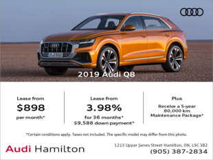 Drive the 2019 Audi Q8 today!