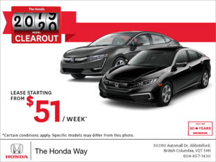 It's the Honda 2019 Model Clearout Event!