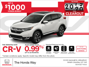 Lease the 2019 Honda CR-V Today!