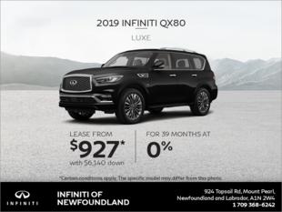 Get a new 2019 INFINITI QX80 today!