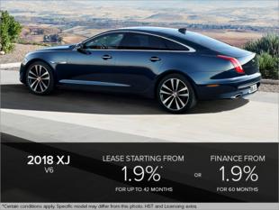 The 2018 XJ V6