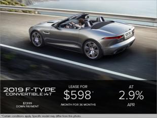 The 2019 Jaguar F-TYPE Convertible i4T