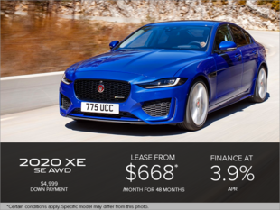 The 2020 Jaguar XE SE AWD