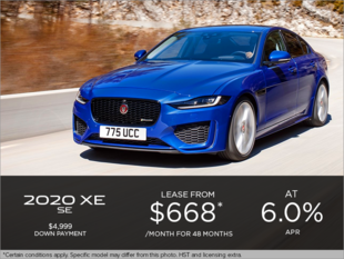 The 2020 Jaguar XE SE