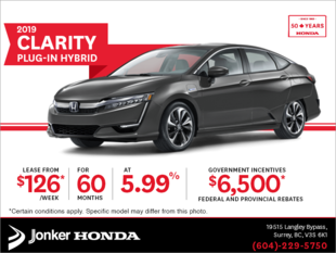 Lease the 2019 Honda Clarity Plug-in Hybrid Today!