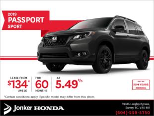 Lease the 2019 Honda Passport Today!