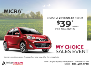 Get the 2018 Nissan Micra Today!