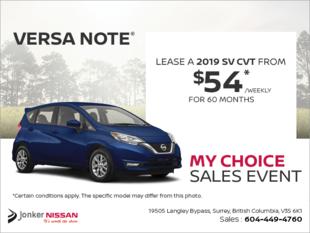 Get the 2019 Nissan Versa Note