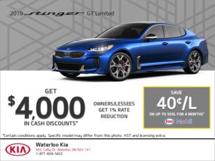 Get the 2019 Kia Stinger!