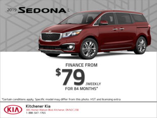 Finance the 2019 Kia Sedona!