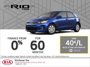 Finance a 2019 Kia Rio today!