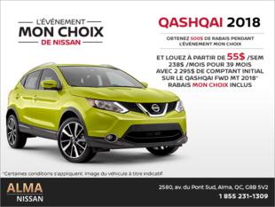 Louez le Nissan Qashquai 2018!