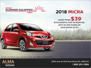 Lease the 2018 Nissan Micra!