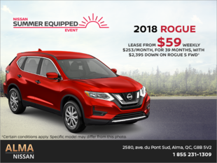 Lease the 2018 Nissan Rogue!