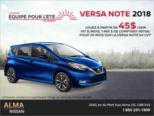 Louez la Nissan Versa Note 2018!