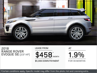 The 2018 Range Rover Evoque SE