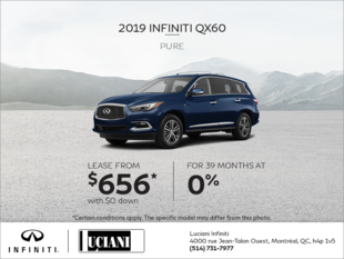Lease the 2019 INFINITI QX60!