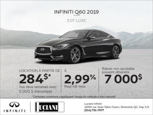 Louez la INFINITI Q60 Luxe 2019!
