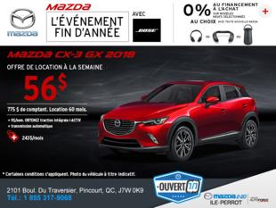 Obtenez la Mazda CX-3 2018!