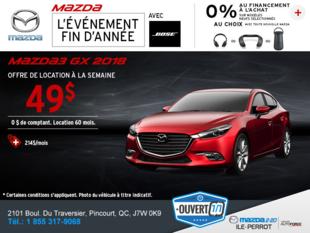 Obtenez la Mazda3 2018 aujourd'hui!