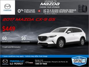 Get the 2017 Mazda CX-9 GS!