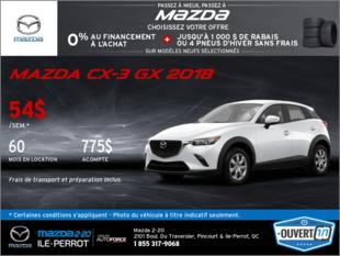 Obtenez la Mazda CX-3 GX 2018!