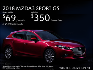 Chatham Mazda - Get the 2018 Mazda3 Sport Today!