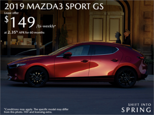 St. Catharines Mazda - Get the 2019 Mazda3 Sport Today!